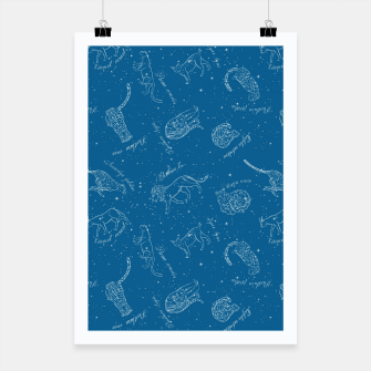 Thumbnail image of Big Cats Constellations (Light Blue Sky) Poster, Live Heroes