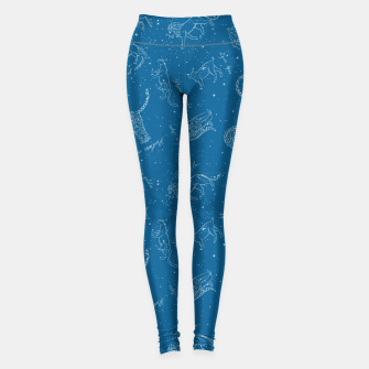 Thumbnail image of Big Cats Constellations (Light Blue Sky) Leggings, Live Heroes