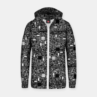Thumbnail image of Serious Circuitry Cotton zip up hoodie, Live Heroes
