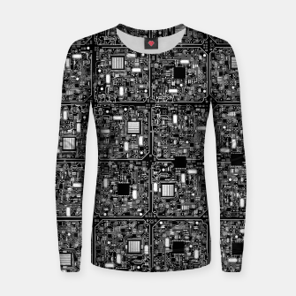 Thumbnail image of Serious Circuitry Woman cotton sweater, Live Heroes