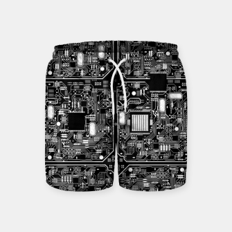 Thumbnail image of Serious Circuitry Swim Shorts, Live Heroes