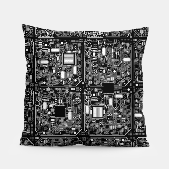 Thumbnail image of Serious Circuitry Pillow, Live Heroes