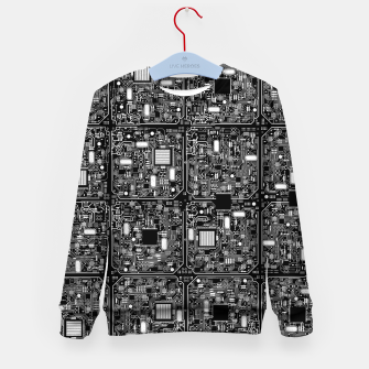 Thumbnail image of Serious Circuitry Kid's sweater, Live Heroes