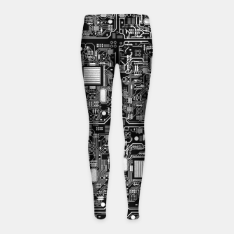 Thumbnail image of Serious Circuitry Girl's leggings, Live Heroes