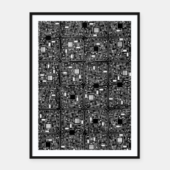 Thumbnail image of Serious Circuitry Framed poster, Live Heroes