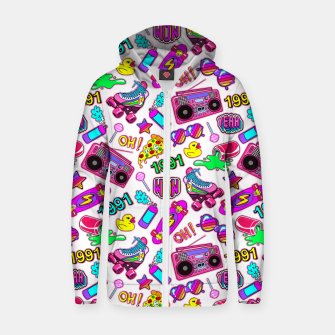 Miniaturka Back to the 80s! Cotton zip up hoodie, Live Heroes