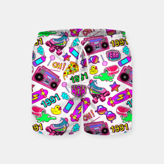Back to the 80s! Swim Shorts Bild der Miniatur