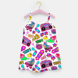 Back to the 80s! Girl's dress obraz miniatury