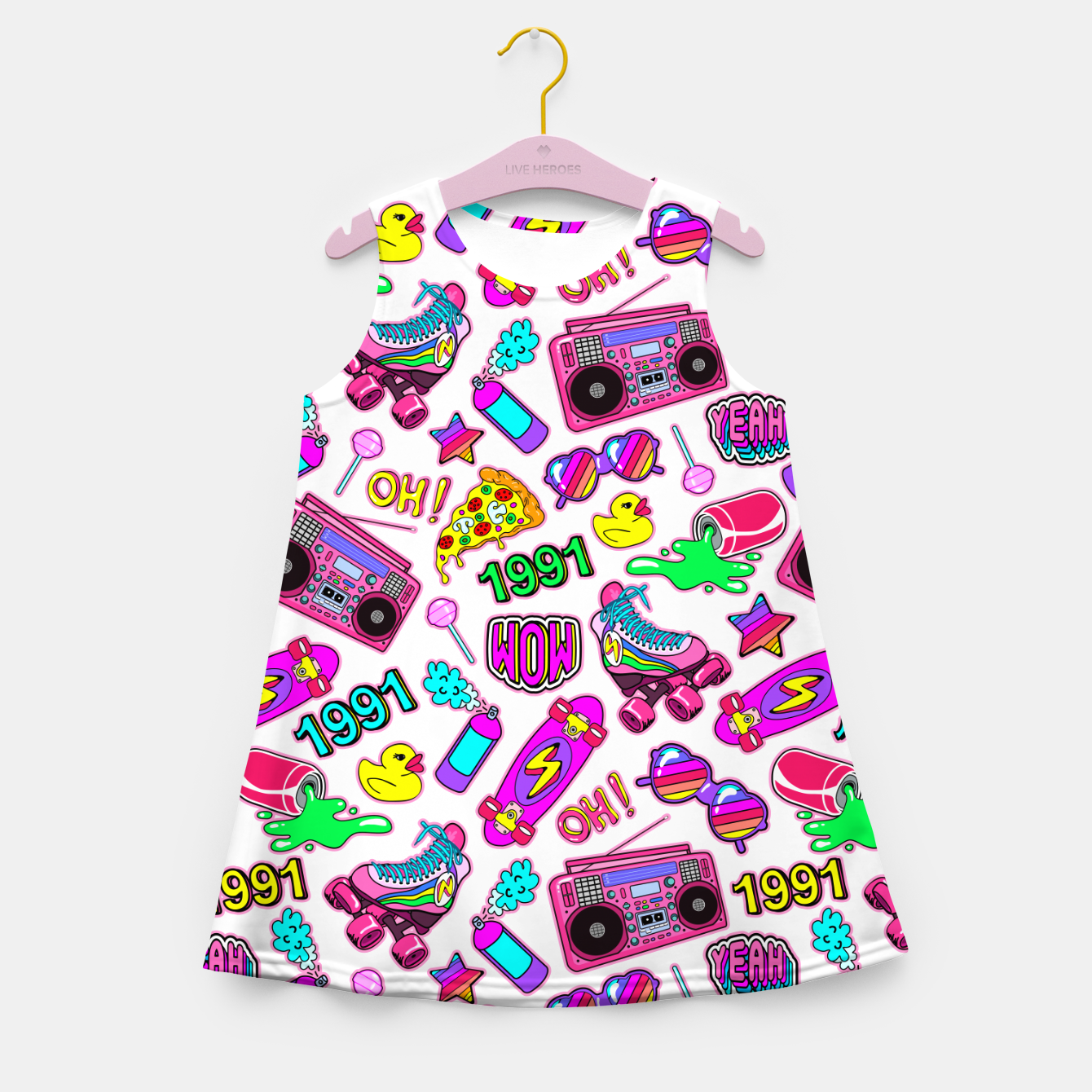Foto Back to the 80s! Girl's summer dress - Live Heroes