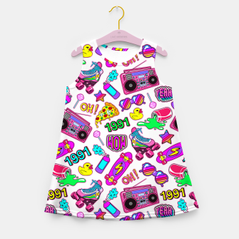 Back to the 80s! Girl's summer dress obraz miniatury