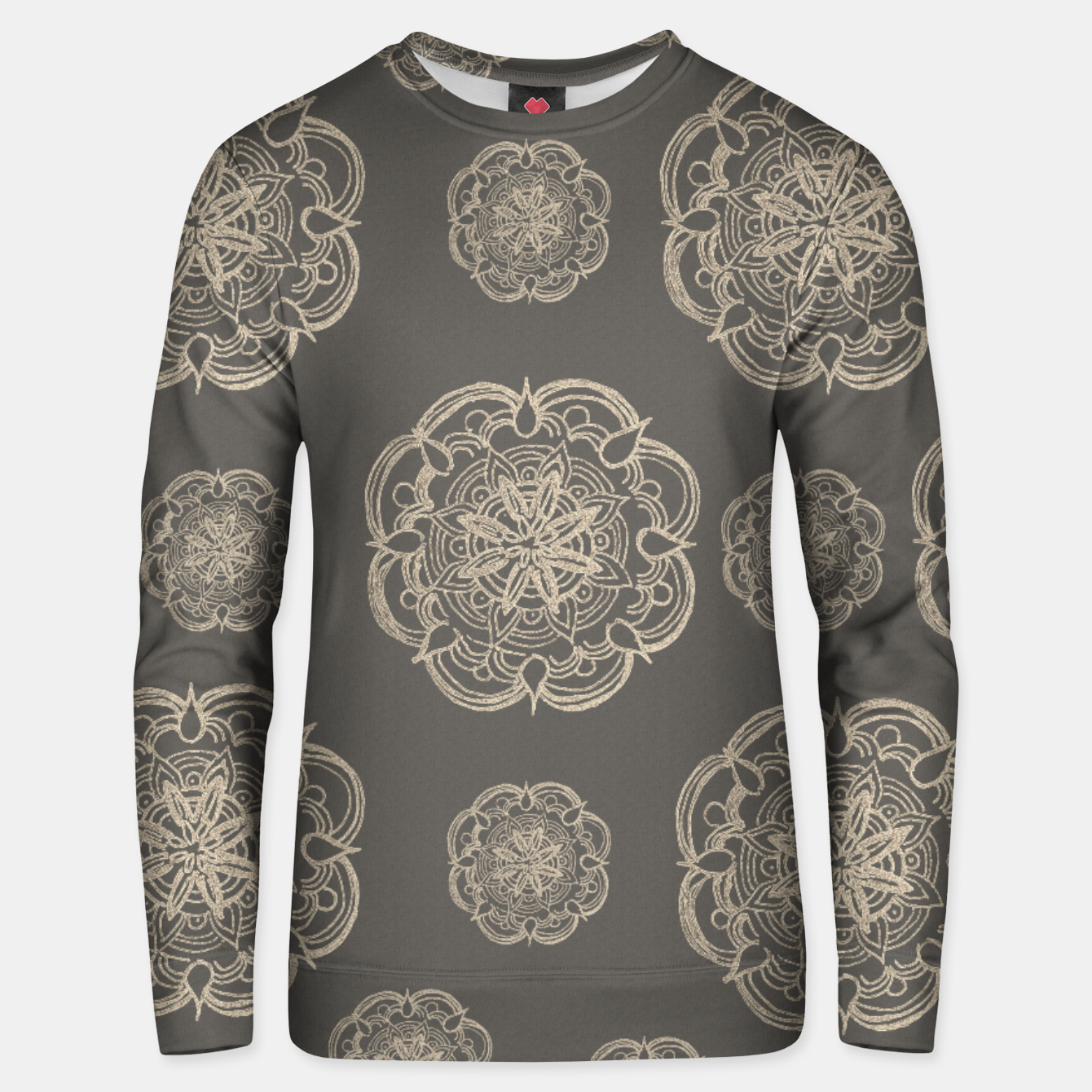 Image of Gold Romantic Mandala Pattern #1 #decor #art Baumwoll sweatshirt - Live Heroes
