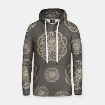 Gold Romantic Mandala Pattern #1 #decor #art Baumwoll Kapuzenpullover thumbnail image