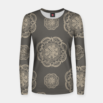 Gold Romantic Mandala Pattern #1 #decor #art Frauen baumwoll sweatshirt thumbnail image