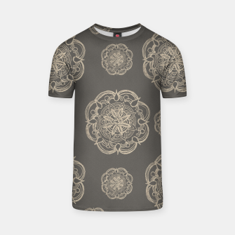 Gold Romantic Mandala Pattern #1 #decor #art T-Shirt thumbnail image