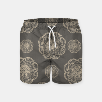 Gold Romantic Mandala Pattern #1 #decor #art Badeshorts thumbnail image