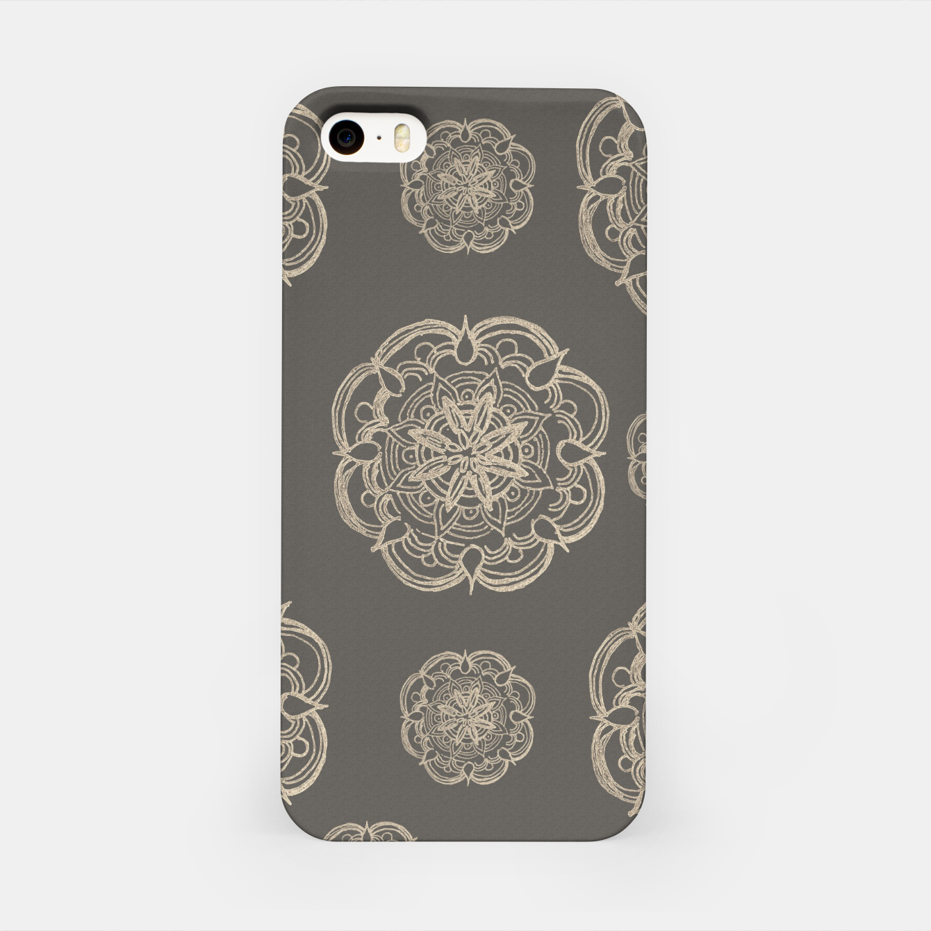 Image of Gold Romantic Mandala Pattern #1 #decor #art iPhone-Hülle - Live Heroes