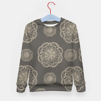 Gold Romantic Mandala Pattern #1 #decor #art Kindersweatshirt thumbnail image