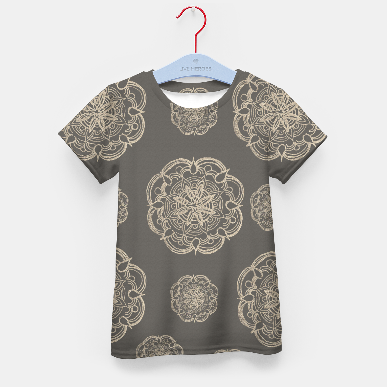 Image of Gold Romantic Mandala Pattern #1 #decor #art T-Shirt für kinder - Live Heroes