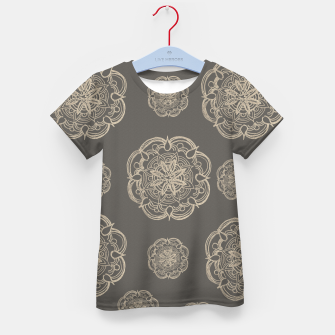 Gold Romantic Mandala Pattern #1 #decor #art T-Shirt für kinder thumbnail image