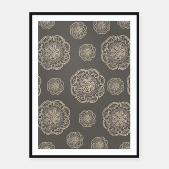 Gold Romantic Mandala Pattern #1 #decor #art Plakat mit rahmen thumbnail image