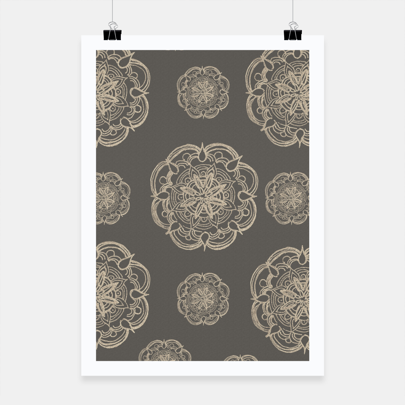 Image of Gold Romantic Mandala Pattern #1 #decor #art Plakat - Live Heroes