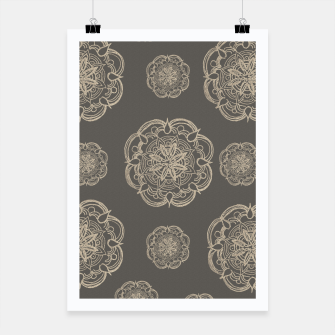 Gold Romantic Mandala Pattern #1 #decor #art Plakat thumbnail image