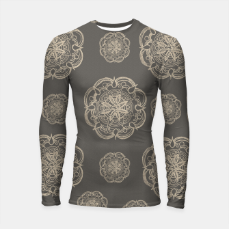 Gold Romantic Mandala Pattern #1 #decor #art Longsleeve rashguard thumbnail image