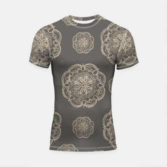 Gold Romantic Mandala Pattern #1 #decor #art Shortsleeve rashguard thumbnail image