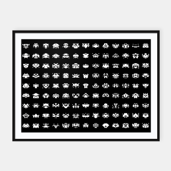 Thumbnail image of  Retro Gamer - Invaders From Space - 09 Framed poster, Live Heroes