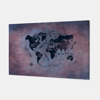 Thumbnail image of map of the world Canvas, Live Heroes