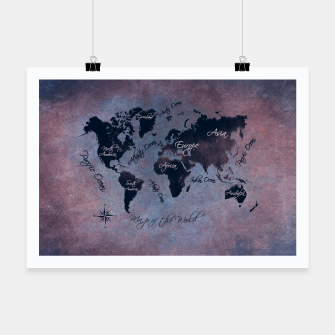 Thumbnail image of map of the world Plakat, Live Heroes