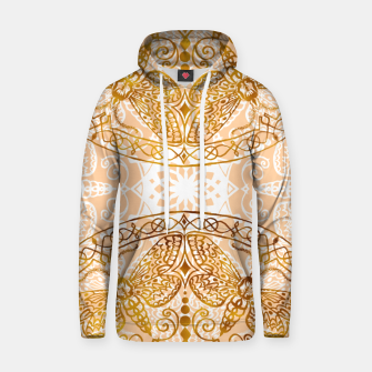 Miniatur Bees Golden Mandala and Peach Pink Cotton hoodie, Live Heroes