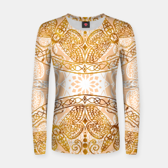 Miniatur Bees Golden Mandala and Peach Pink Woman cotton sweater, Live Heroes