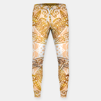 Miniaturka Bees Golden Mandala and Peach Pink Cotton sweatpants, Live Heroes