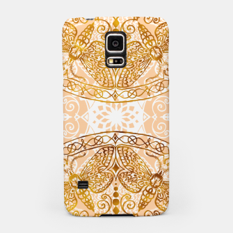 Miniatur Bees Golden Mandala and Peach Pink Samsung Case, Live Heroes