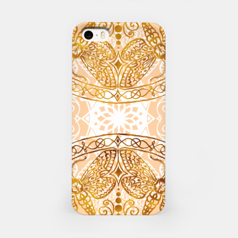 Miniaturka Bees Golden Mandala and Peach Pink iPhone Case, Live Heroes