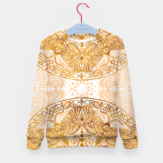 Miniatur Bees Golden Mandala and Peach Pink Kid's sweater, Live Heroes