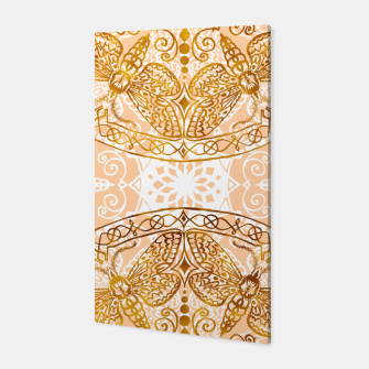 Miniatur Bees Golden Mandala and Peach Pink Canvas, Live Heroes