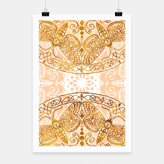 Miniaturka Bees Golden Mandala and Peach Pink Poster, Live Heroes