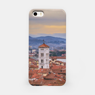 Miniaturka Aerial View Historic Center of Lucca, Italy iPhone Case, Live Heroes