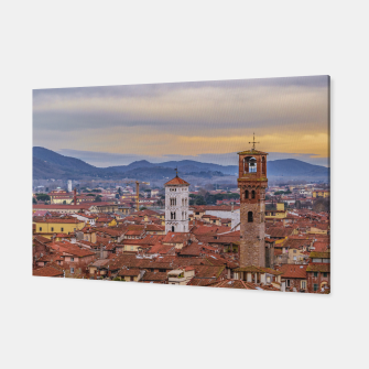 Thumbnail image of Aerial View Historic Center of Lucca, Italy Canvas, Live Heroes