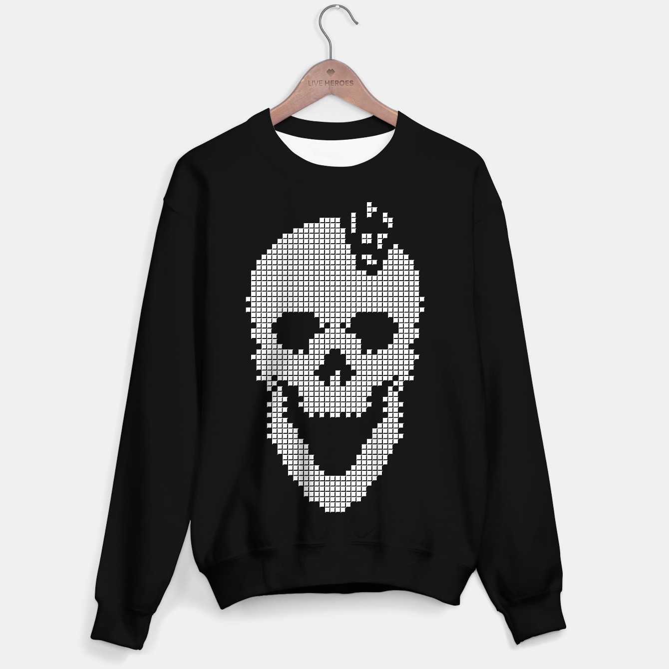 Foto Skull Tetris Sweater regular - Live Heroes
