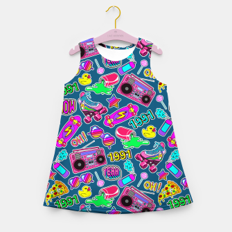 Back to the 80s II Girl's summer dress Bild der Miniatur