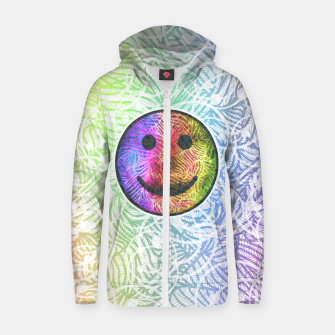 Thumbnail image of Smile! Cotton zip up hoodie, Live Heroes