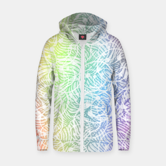 smile2 Cotton zip up hoodie thumbnail image