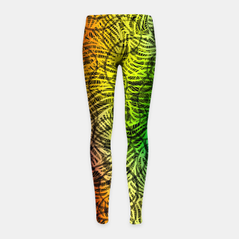 Thumbnail image of smile3 Girl's leggings, Live Heroes
