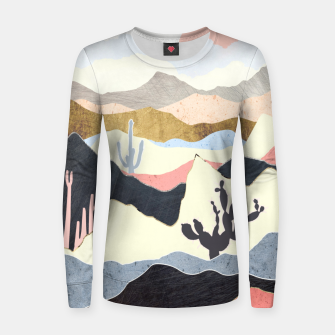 Thumbnail image of Desert Summer Woman cotton sweater, Live Heroes