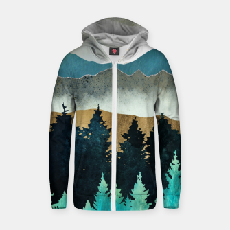 Thumbnail image of Forest Mist Cotton zip up hoodie, Live Heroes