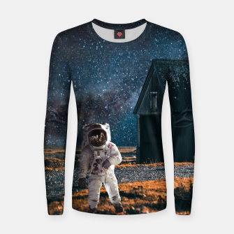Miniatur Going to Adventure Woman cotton sweater, Live Heroes
