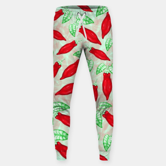 Thumbnail image of Red Hot Chilli Pepper Decorative Food Art Cotton sweatpants, Live Heroes